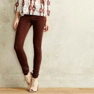Anthropologie mid-rise skinny corduroy pants